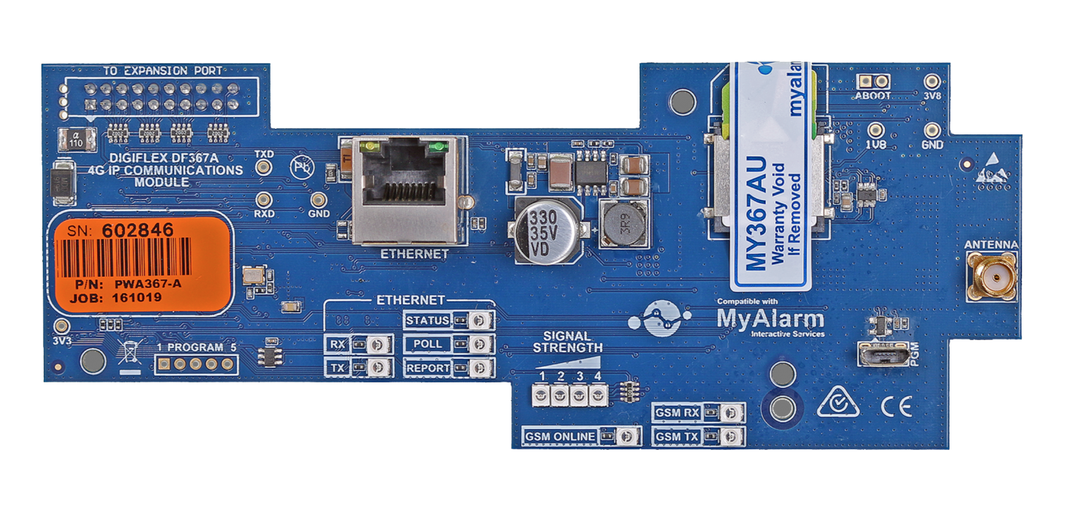 Bosch Solution 6000 4G GPRS/IP Ethernet Combo Module for use with MyAlarm iFob Control App & Back to Base Monitoring