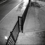 CCTV Image of a driveway at night